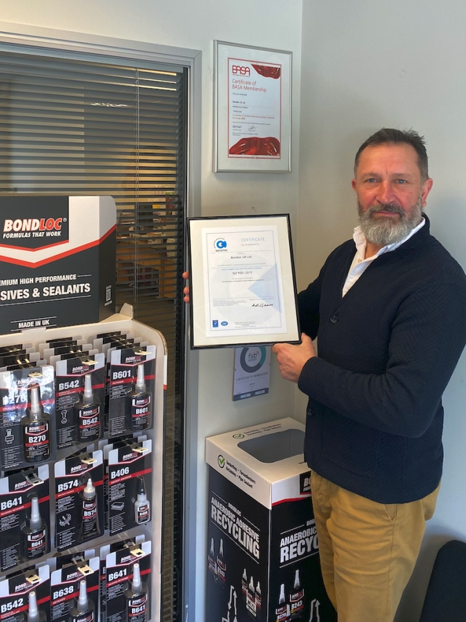 Bondloc UK Ltd Renews ISO 9001:2015 Certification